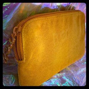 Melt Cosmetics makeup bag mustard yellow rare